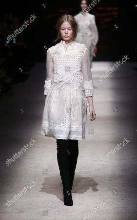 Stock Picture of Hollie-May Saker on the catwalk