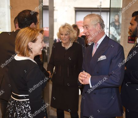 Prince Charles and Camilla, Camilla Duchess of Cornwall meeting editor Sarah Sands