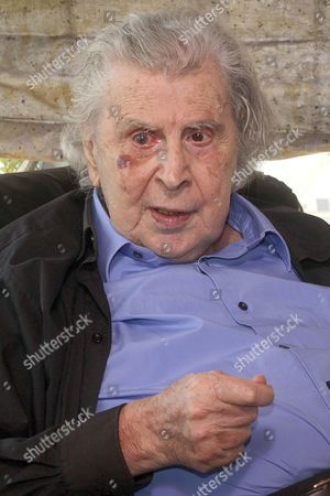 Composer and former politician, Mikis Theodorakis at his home