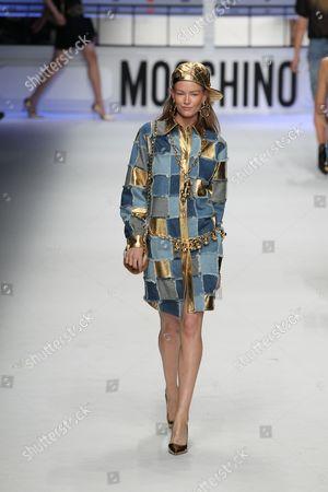 Editorial image of Moschino show, Autumn Winter 2015, Milan Fashion Week, Italy - 26 Feb 2015