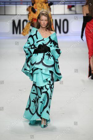 Editorial photo of Moschino show, Autumn Winter 2015, Milan Fashion Week, Italy - 26 Feb 2015