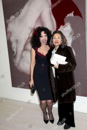 Mouna Rebeiz and guest
