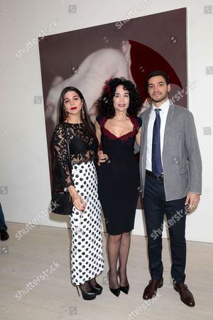 Mouna Rebeiz with her son and daughter