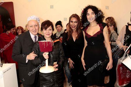 Stock Photo of Helen McCrory, Stephen Jones, Homayra Sellier and Mouna Rebeiz