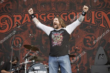 Castle Donington United Kingdom - June 13: Frontman Ben Ward Of English Heavy Metal Group Orange Goblin Performing Live On The Zippo Encore Stage At Download Festival On June 13