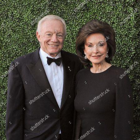 Jerry Jones and his wife Gene Jones