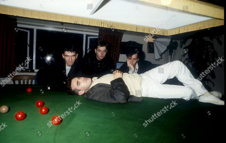 MIKE JOYCE, ANDY ROURKE, JOHNNY MARR AND MORRISSEY