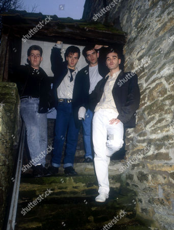 ANDY ROURKE, JOHNNY MARR, MIKE JOYCE AND MORRISSEY
