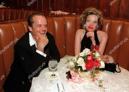 Jack Nicholson and Rebecca Broussard at the post-Oscar party hosted by Sony