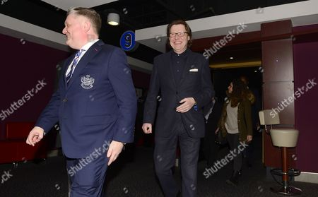 BBC London's Robert Elms exits the screening of R'Story with a smile on his face