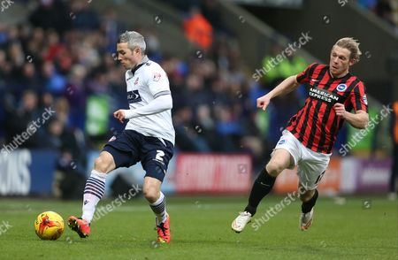 Kevin McNaughton during before the Sky Bet Championship match between Bolton Wanderers and Brighton and Hove Albion at the Reebok Stadium, Bolton