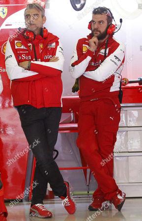Stock Picture of Marco Mattiacci, Ferrari director, on the tests of Formula 1, held at the Circuit de Catalunya.