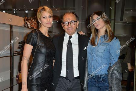 Elena Santarelli, Enio Silla and Melissa Satta