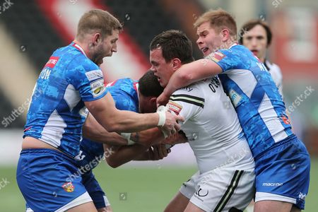 Editorial picture of First Utility Superleague 2015 Widnes Vikings v Wakefield Wildcats Select Security Stadium Halton, Lower House Lane, Widnes, United Kingdom - 1 Mar 2015