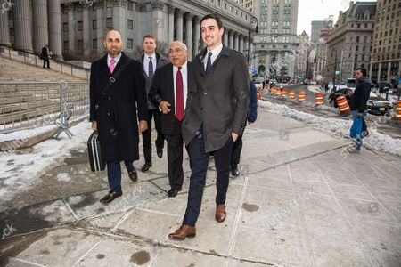 Editorial image of Michael Lohan Jr leaving the New York State Surpreme Courthouse, New York, America - 25 Feb 2015