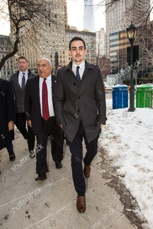 Editorial photo of Michael Lohan Jr leaving the New York State Surpreme Courthouse, New York, America - 25 Feb 2015