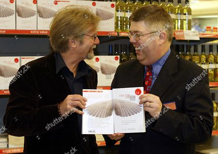FRANC RODDAM (L) , A DIRECTOR, WHO BOUGHT THE RIGHTS TO THE DEBUT NOVEL 'ONE FOR SORROW, TWO FOR JOY' BY CLIVE WOODALL (R)