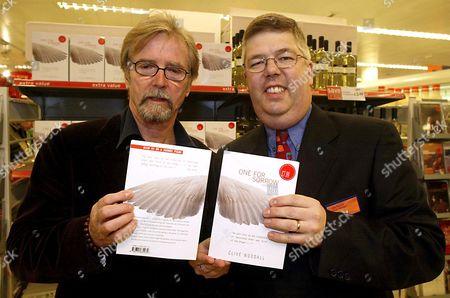 FRANC RODDAM (L) , A DIRECTOR, WHO BOUGHT THE RIGHTS TO THE DEBUT NOVEL 'ONE FOR SORROW' BY CLIVE WOODALL (R)