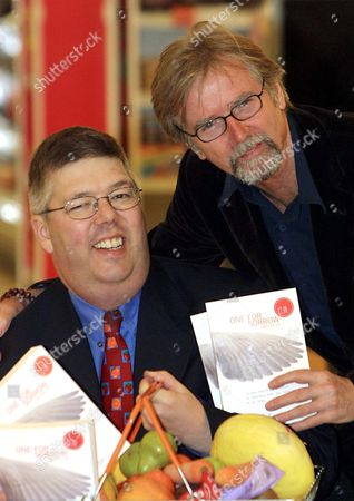 FRANC RODDAM (R) , A DIRECTOR, WHO BOUGHT THE RIGHTS TO THE DEBUT NOVEL 'ONE FOR SORROW, TWO FOR JOY' BY CLIVE WOODALL (L)