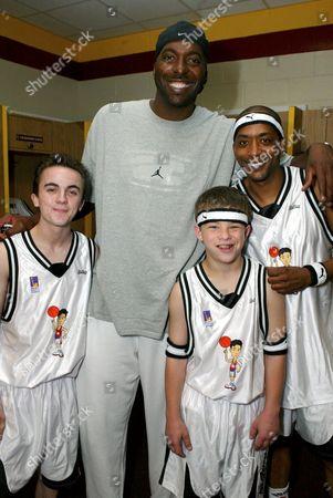 Frankie Muniz, NBA veteran John Salley, Miguel A Nunez Jnr and Jonathan Lipnicki