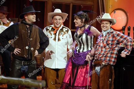 PAUL USHER, ANT MCPARTLIN, SURANNE JONES AND DECLAN DONNELLY