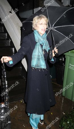 Stock Photo of Patricia Hewitt Leaving Her Home In North London.