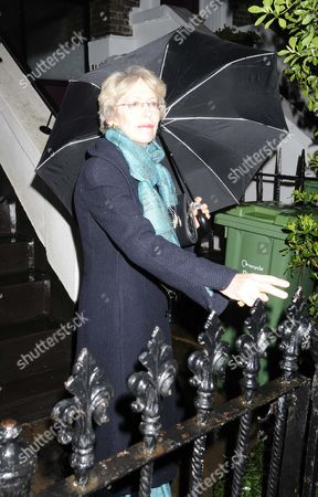 Patricia Hewitt Leaving Her Home In North London.
