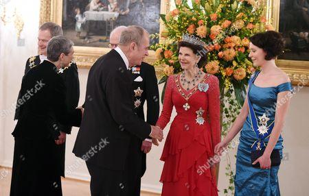 Queen Silvia, King Carl Gustaf, Sauli Niinisto and Jorn Donner