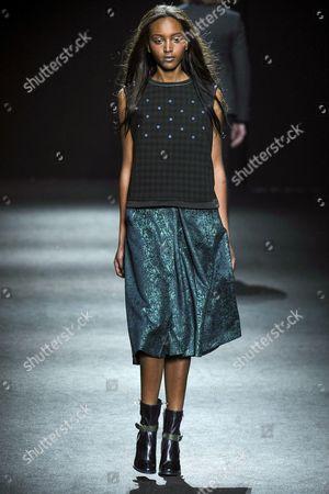 Editorial image of Massimo Rebecchi show, Autumn Winter 2015, Milan Fashion Week, Italy - 01 Mar 2015