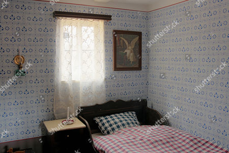Children's bedroom from the 1920s, Hessenpark Open-Air Museum, Neu-Anspach, Taunus, Hesse, Germany, Europe
