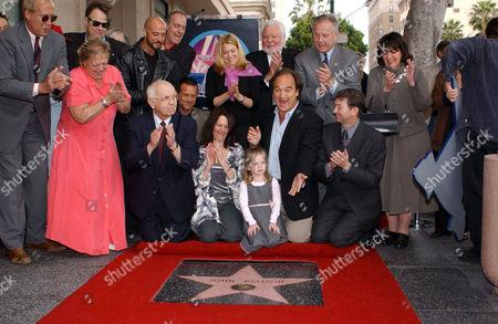 Stock Picture of Judy Belushi Pisano, Jim Belushi with daughter Jamison Bess and other Belushi family