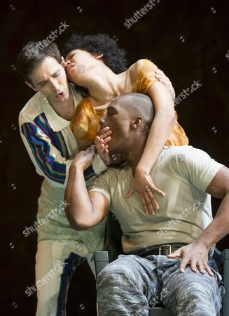 Anthony Roth Costanzo as Ixbalanque,  Julia Bullock as The Indian Queen, Noah Stewart as Don Pedro