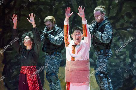 Julia Bullock as The Indian Queen, Vince Yi as Hunahpu,