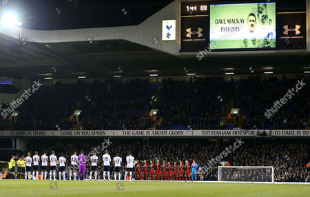 Applause at White Hart Lane for that late Tottenham legend Dave Mackay