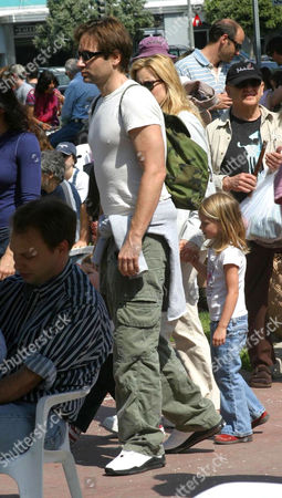 David Duchovny, Tea Leoni and daughter Madelaine West Duchovny