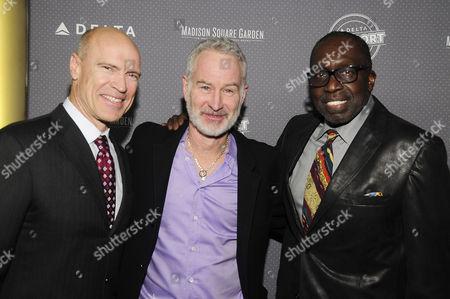 Stock Photo of Earl Monroe, John McEnroe, Mark Messier