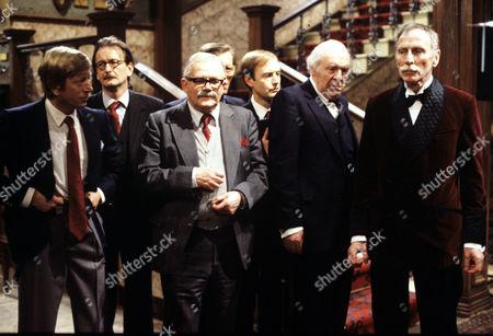 Stock Photo of Andrew Ray, Ronald Pickup, Nigel Stock, John Horsley and Alfred Burke