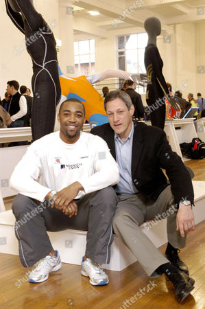 Stock Picture of DARREN CAMPBELL AND ALLAN WELLS