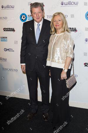 Roy Hodgson and wife Sheila Hodgson
