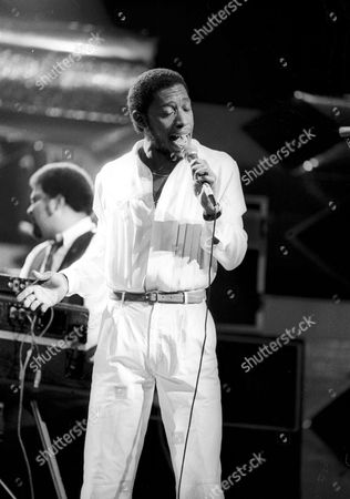 Stock Picture of JEFFREY OSBOURNE PERFORMING WITH THE CLARK DUKE PROJECT, CANNES, FRANCE - JAN 1983