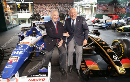 Sir Stirling Moss and Murray Walker OBE open the two new displays Grand Prix Greats and Road, Race and Rally