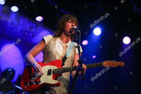 The British rock singer and guitarist Charlotte Hatherley, ex-Ash, live in the Schueuer venue, Lucerne, Switzerland