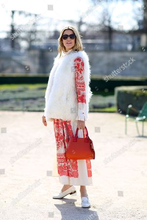 Editorial picture of Street Style at Autumn Winter 2015, Paris Fashion Week, France - 06 Mar 2015