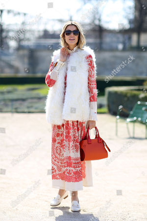 Editorial image of Street Style at Autumn Winter 2015, Paris Fashion Week, France - 06 Mar 2015
