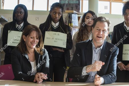 Editorial image of Nick Clegg visits Hornsey School for Girls, London, Britain - 06 Mar 2015