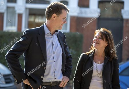 Stock Image of Nick Clegg and Lynn Featherstone