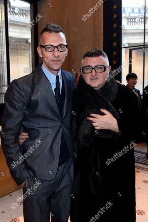 Olivier Saillard, Director of the Galliera Museum, and Albert Elbaz