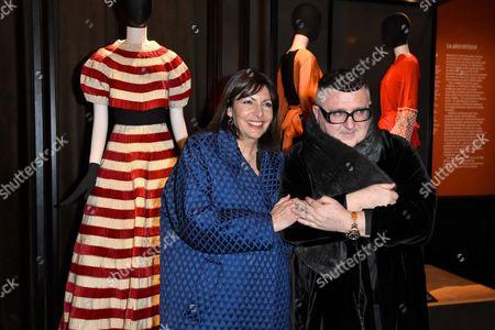 Mayor of Paris Anne Hidalgo and Albert Elbaz