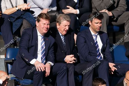 England manager Roy Hodgson watches along side outgoing QPR CEO Philip Beard