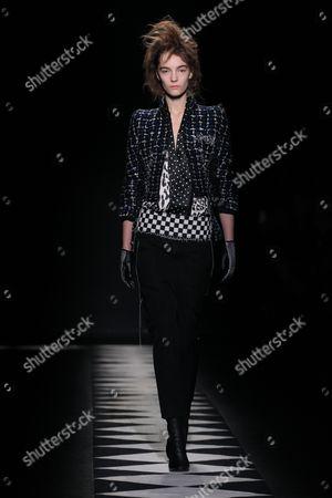 Editorial picture of Haider Ackerman show, Autumn Winter 2015, Paris Fashion Week, France - 07 Mar 2015